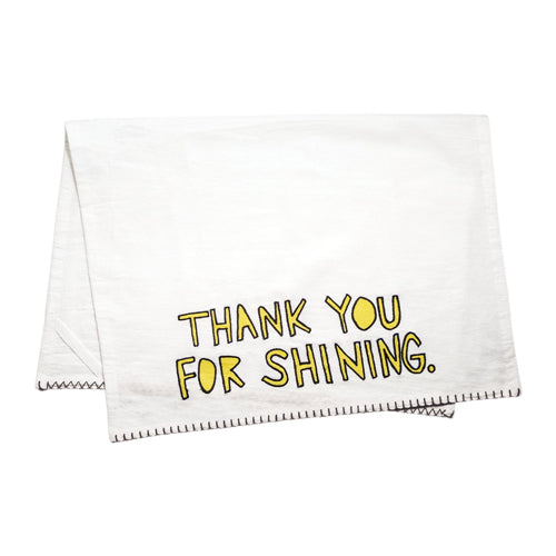 Thank You For Shining Bar Linen