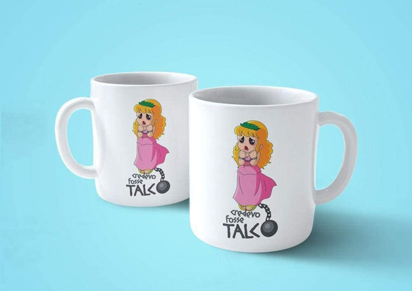 Lavender Tazza Pollon Credevo Fosse Talco - Mug Cartoon Anni 80 - Choose ur Color Cuc shop