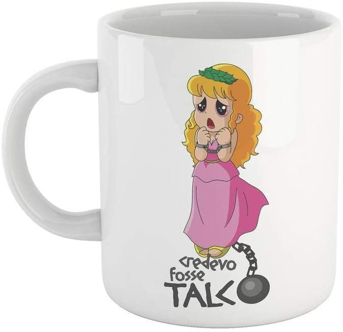 Rosy Brown Tazza Pollon Credevo Fosse Talco - Mug Cartoon Anni 80 - Choose ur Color Cuc shop