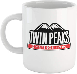 Tazza Twin Peaks Cartello Cittˆ - Mug sulla Serie TV Cult di Lynch - Choose ur Color - CUC #chooseurcolor