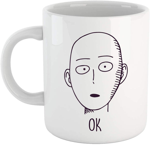 Tazza Saitama One - Pugno Ok! Punch Divertente - Anime Manga - Fight Quote Man - Choose ur Color
