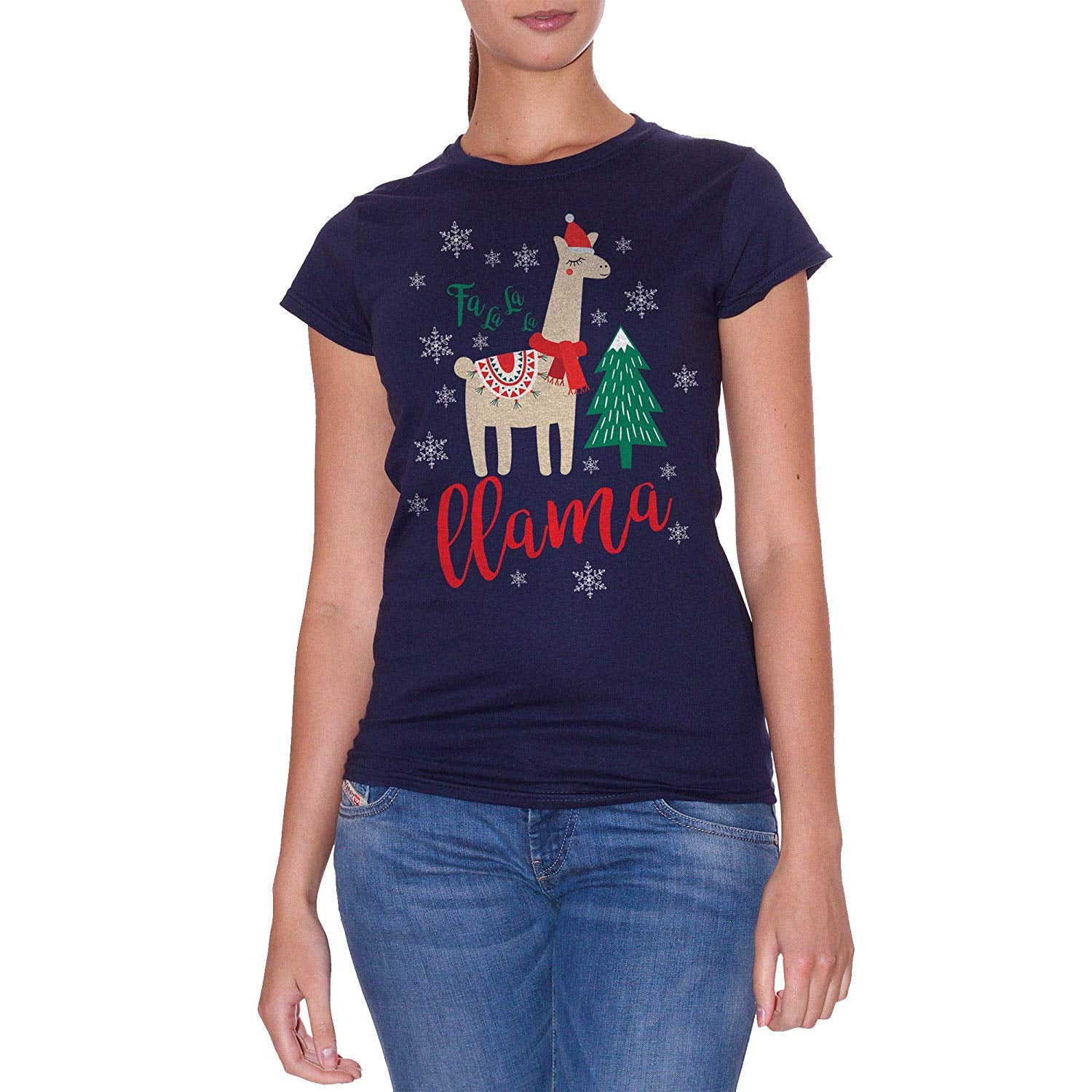 T-Shirt Fa La La La Llama Xmas Christmas Natale - Film Choose ur Color - CUC #chooseurcolor