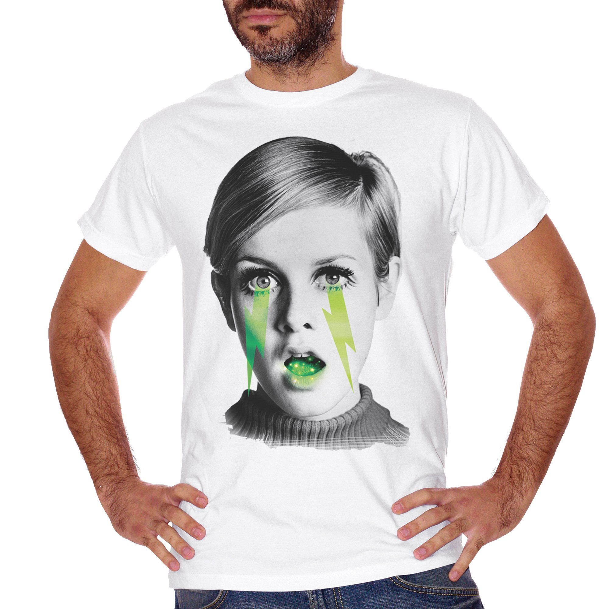T-Shirt Twiggy Vintage Star Black And White - FAMOSI