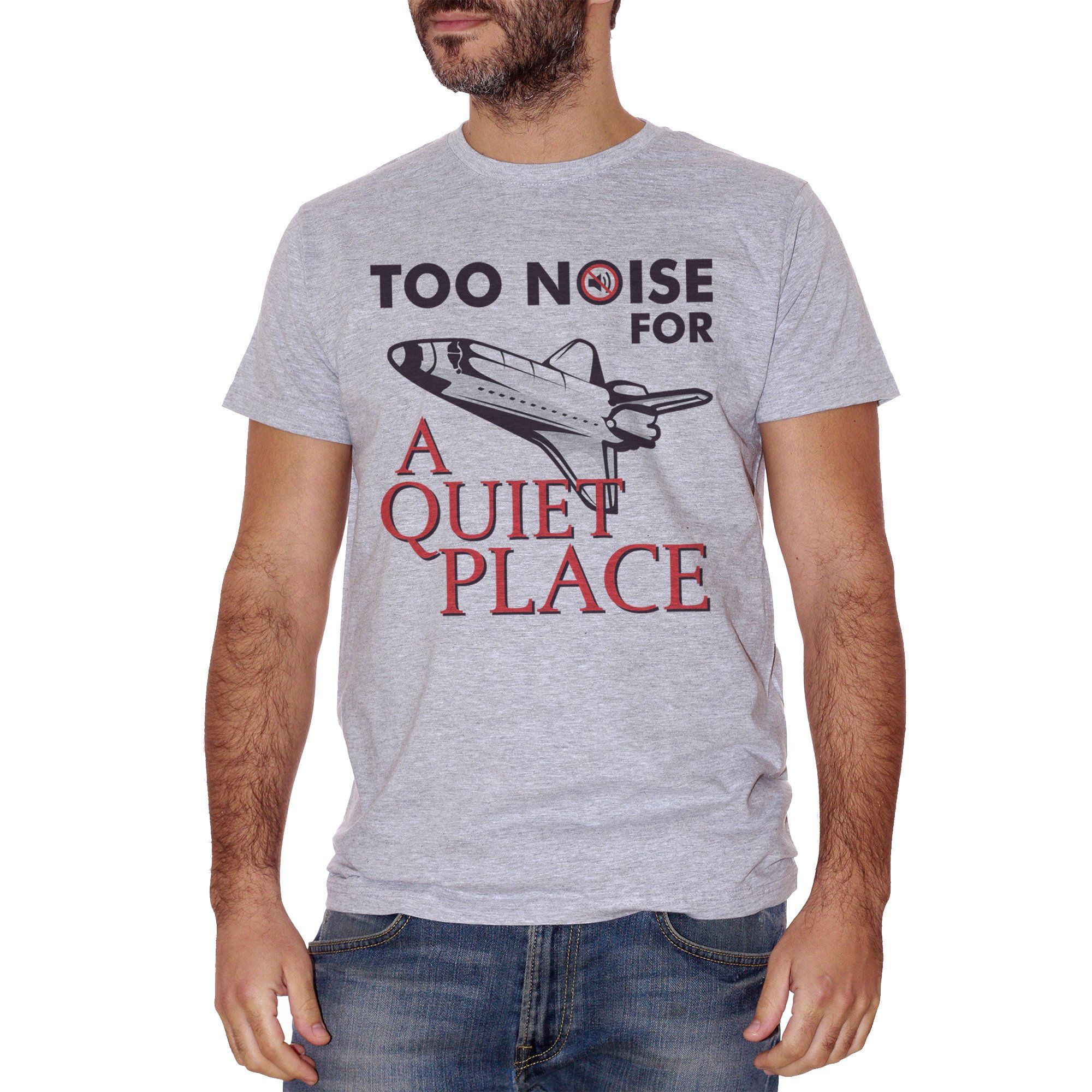 Gray T-Shirt Too Noise For A Quiet Place Horror Movie - FILM CucShop