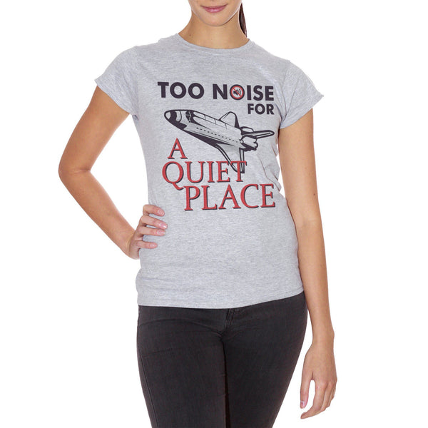 Light Gray T-Shirt Too Noise For A Quiet Place Horror Movie - FILM CucShop