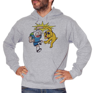 Gray Felpa Adventure Time - Finn Jake - FILM CucShop