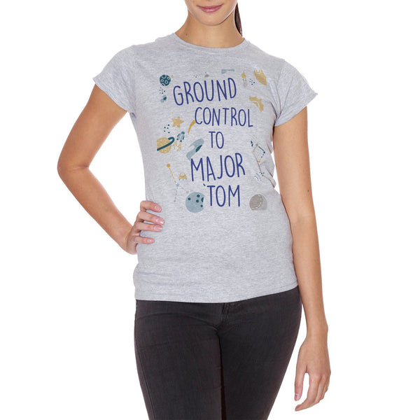 T-Shirt Ground Control To Major Tom David Bowie-Space Oddity Song Canzone - MUSIC