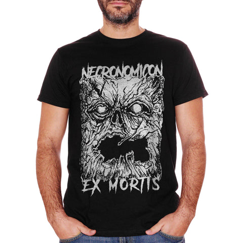 T-Shirt Ecronomicon Ex Mortis Book Lovecraft Raimi Evil Dead Horror Movie - FAMOSI