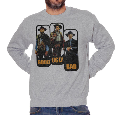 Dark Gray Felpa Girocollo Clint Eastwood Cinema Movie Western Good - FILM CucShop