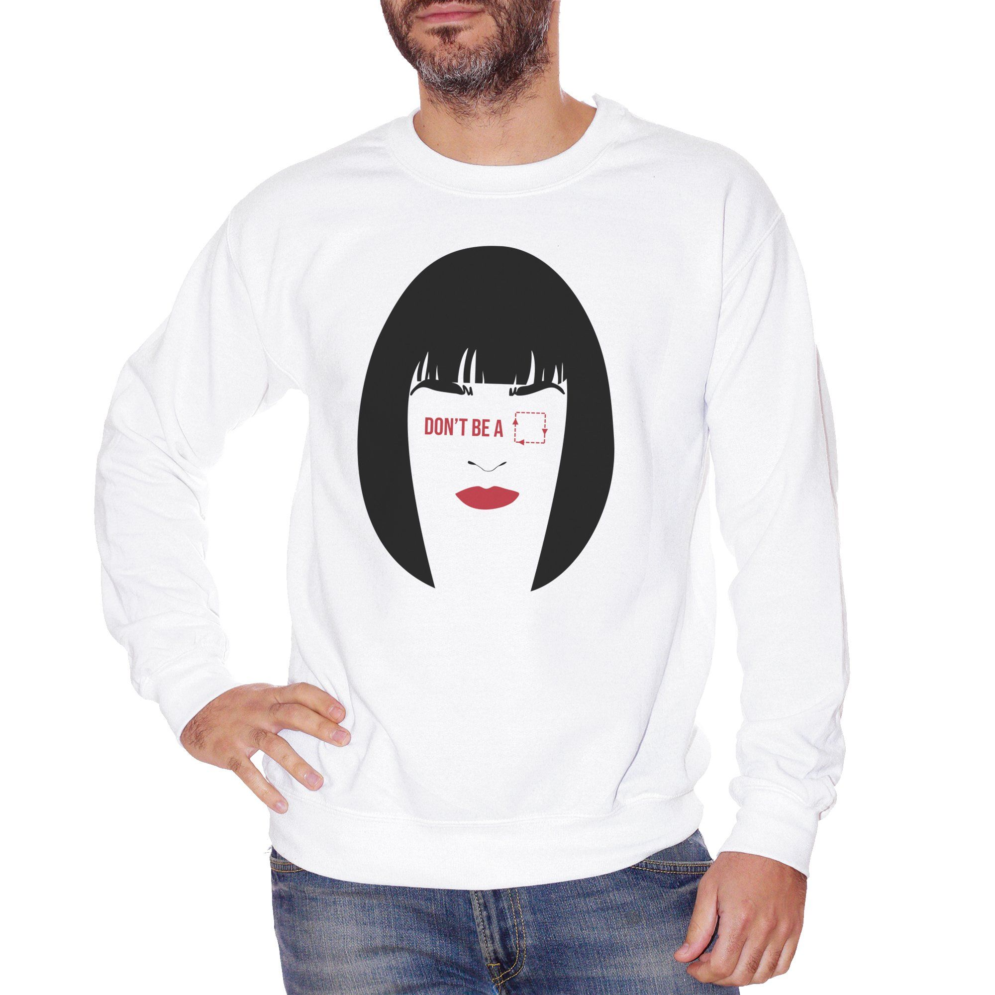 Felpa Girocollo Pulp Fiction Quotes Mia Wallace - FILM