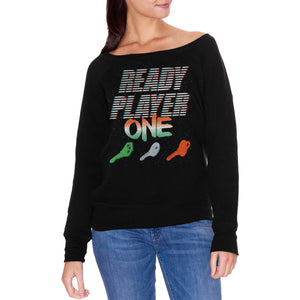 FELPA FASHION DONNA READY-PLAYER-ONE-KEYS-3D