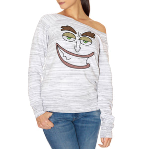 FELPA FASHION DONNA HORMONE-MONSTER-MAURICE-FACE-SMILE-BIG-MOUTH
