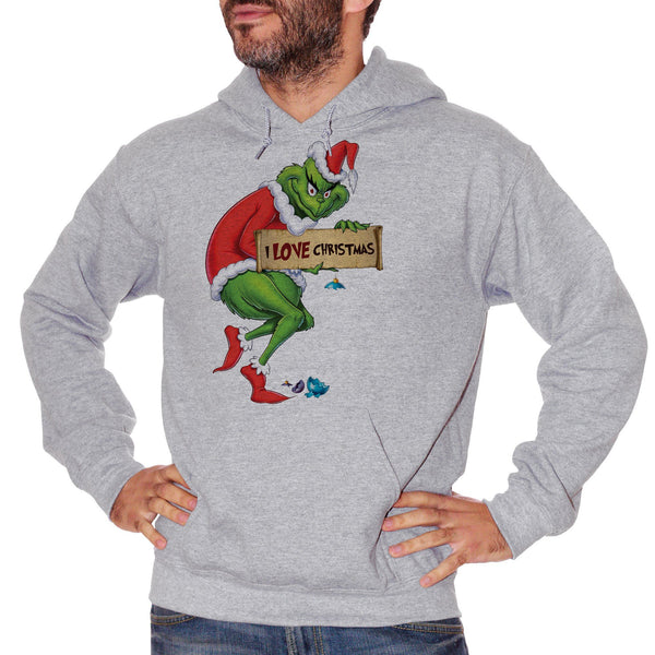 Gray Felpa Grinch I Love Christmas - FILM CucShop