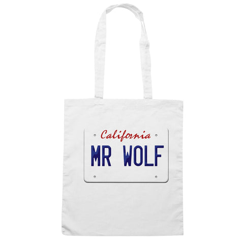Borsa Mr Wolf Targa Pulp Fiction California - Bianca - FILM - CUC #chooseurcolor