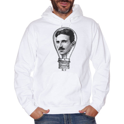 White Smoke Felpa Nikola Tesla Electric Lamp - FAMOSI CucShop
