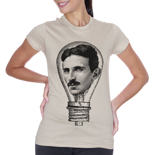 T-Shirt Nikola Tesla Electric Lamp - FAMOSI - CUC #chooseurcolor