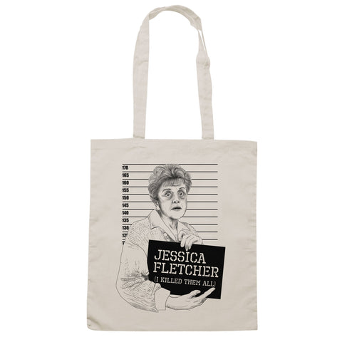 Borsa Jessica Fletcher Mugshot Killed Them All Signora In Giallo Murder - Sand - FILM - CUC #chooseurcolor
