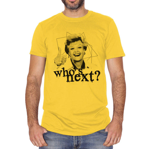 T-Shirt Jessica Fletcher Whos Next Angela Lansbury Signora In Giallo Murder She Wrote - FILM