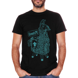 T-Shirt Llama Loot Play Game Videogame - GAMES