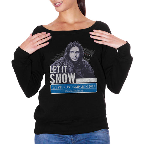 FELPA FASHION DONNA jon-snow-know-nothing-westeros-campaign-2019-game-of-thrones - CUC #chooseurcolor