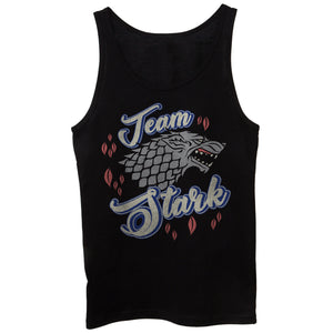 Black Canotta Team Stark Game Of Thrones Got Jon Snow King Of The Nord - FILM CucShop