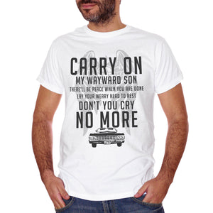 T-Shirt Kansas Carry On My Wayward Son Canzone Song Quote - MUSIC