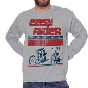 Brown Felpa Girocollo Easy Rider Road Movie Motorcycle Biker Gang - FILM CucShop