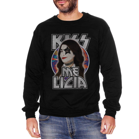 Black Felpa Girocollo Cristina Davena Kiss Me Licia Rock And Roll Star - FAMOSI CucShop