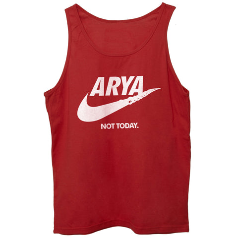 Brown Canotta Arya Stark Got Game Of Thrones Not Today Logo - FILM CucShop
