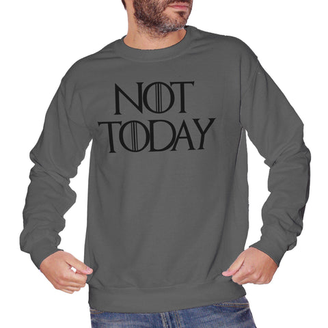 Dim Gray Felpa Girocollo Arya Stark Got Game Of Thrones Not Today - FILM CucShop