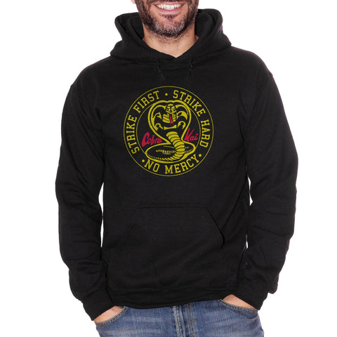 Felpa Cappuccio COBRA KAI LOGO Film cult degli anni 80 - Serie TV - Movie Choose ur color