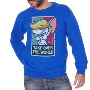 Royal Blue Felpa Girocollo Mignolo Col Prof Cartone Trump Elezioni America - Funny Choose ur Color CucShop