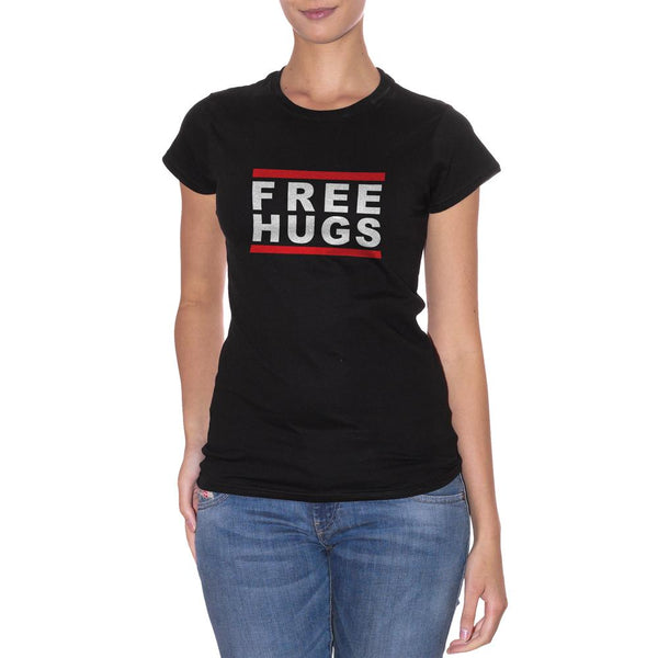 Black T-Shirt Free Hugs - DIVERTENTE Choose ur color CucShop