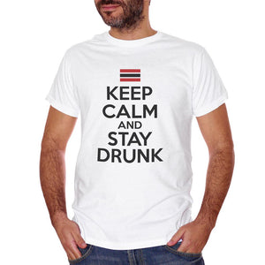 T-Shirt Keep Calm And Stay Drunk - DIVERTENTE Choose ur color