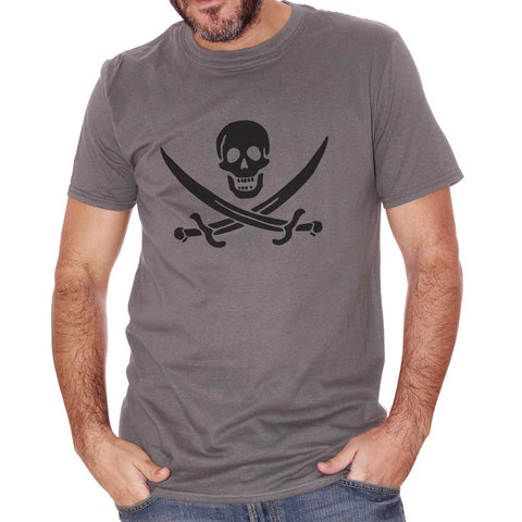 Dim Gray T-Shirt Jolly Roger - POLITICA Choose ur color CucShop