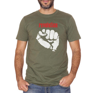 Dim Gray T-Shirt Revolution - POLITICA Choose ur color CucShop