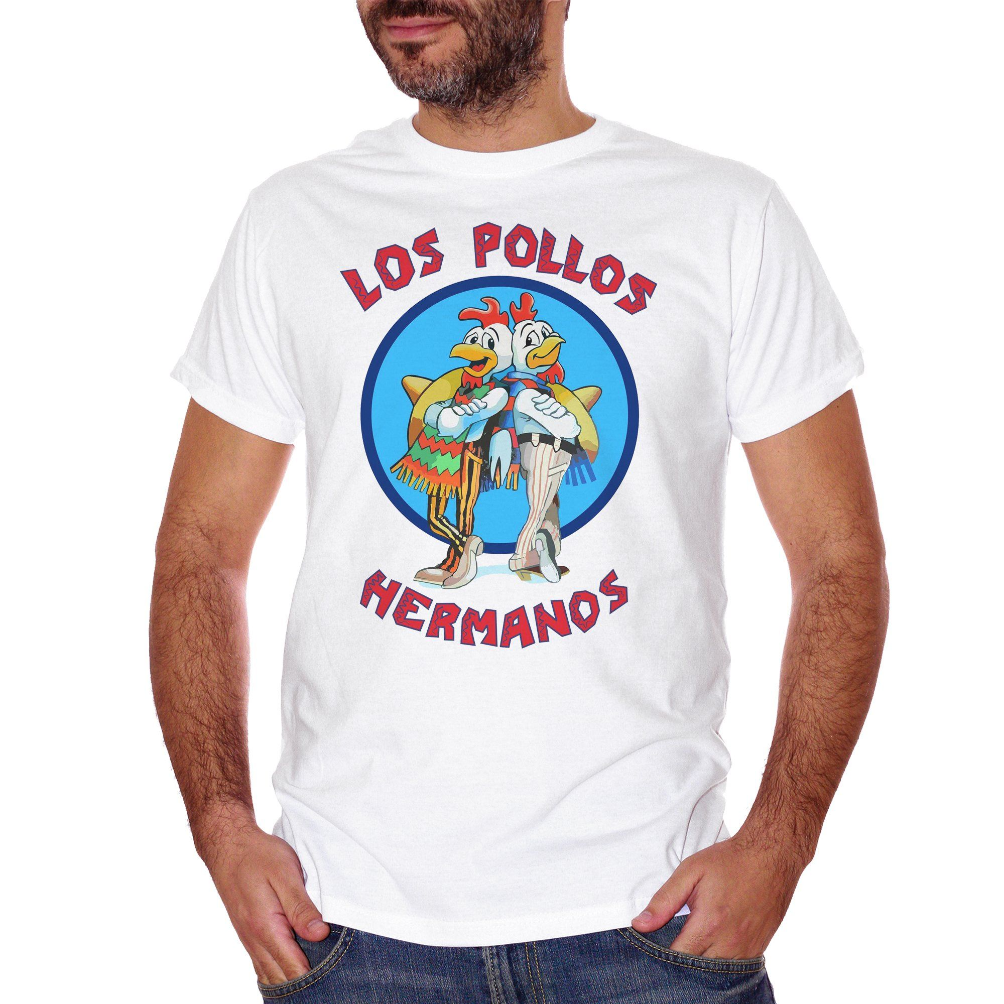 Medium Turquoise T-Shirt Los Pollos Hermanos Breaking Bad - FILM Choose ur color CucShop
