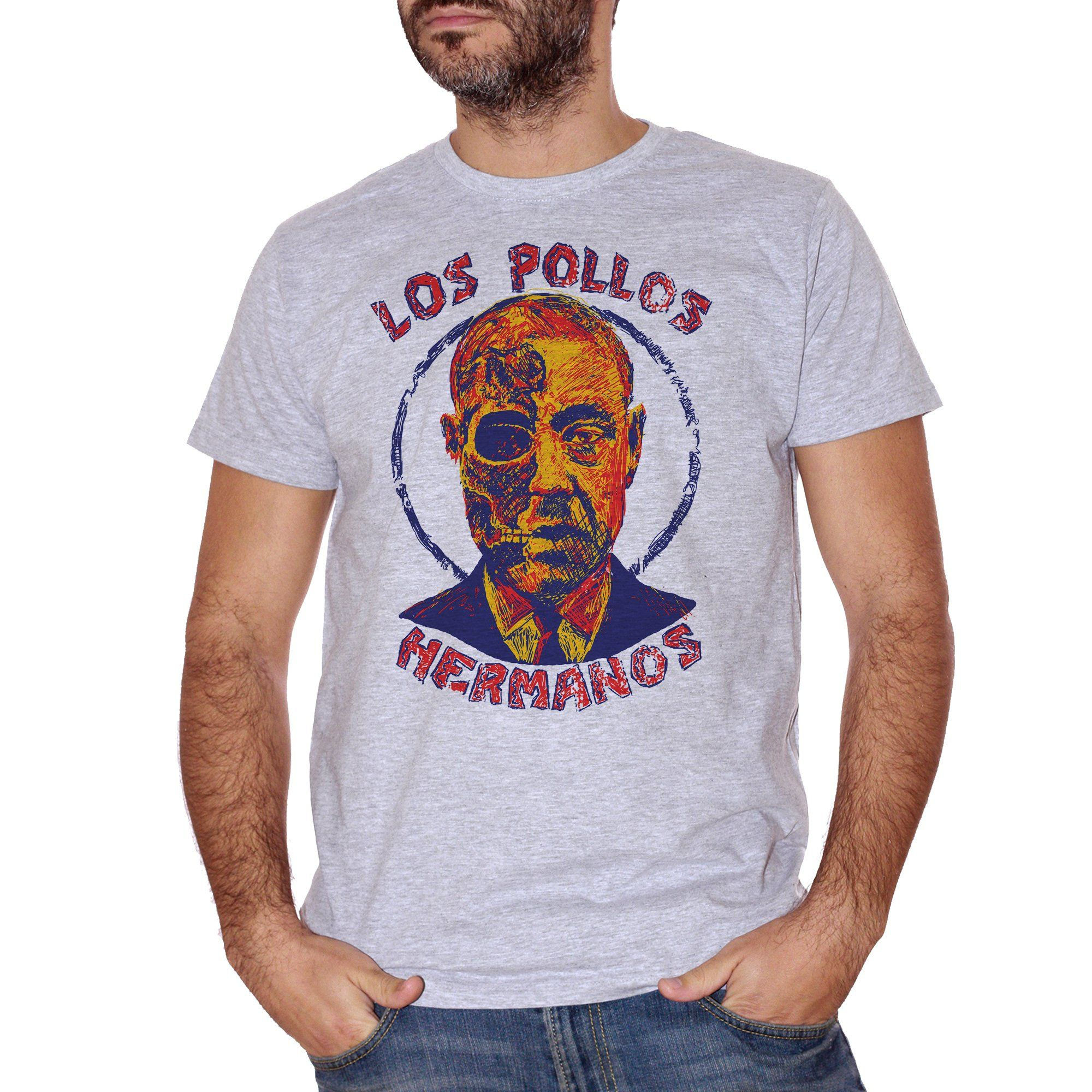 T-Shirt Los Pollos Hermanos Gusfring Breaking Bad - FILM Choose ur color