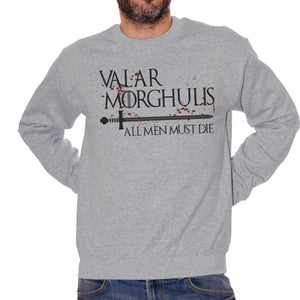 Felpa Girocollo Valar Morghulis Game Of Thrones Choose ur color - FILM