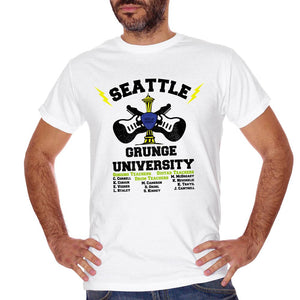 T-Shirt Seattle Grunge University - MUSIC Choose ur color