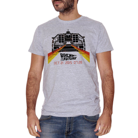 Gray T-Shirt Back To The Future Delorean - FILM Choose ur color CucShop