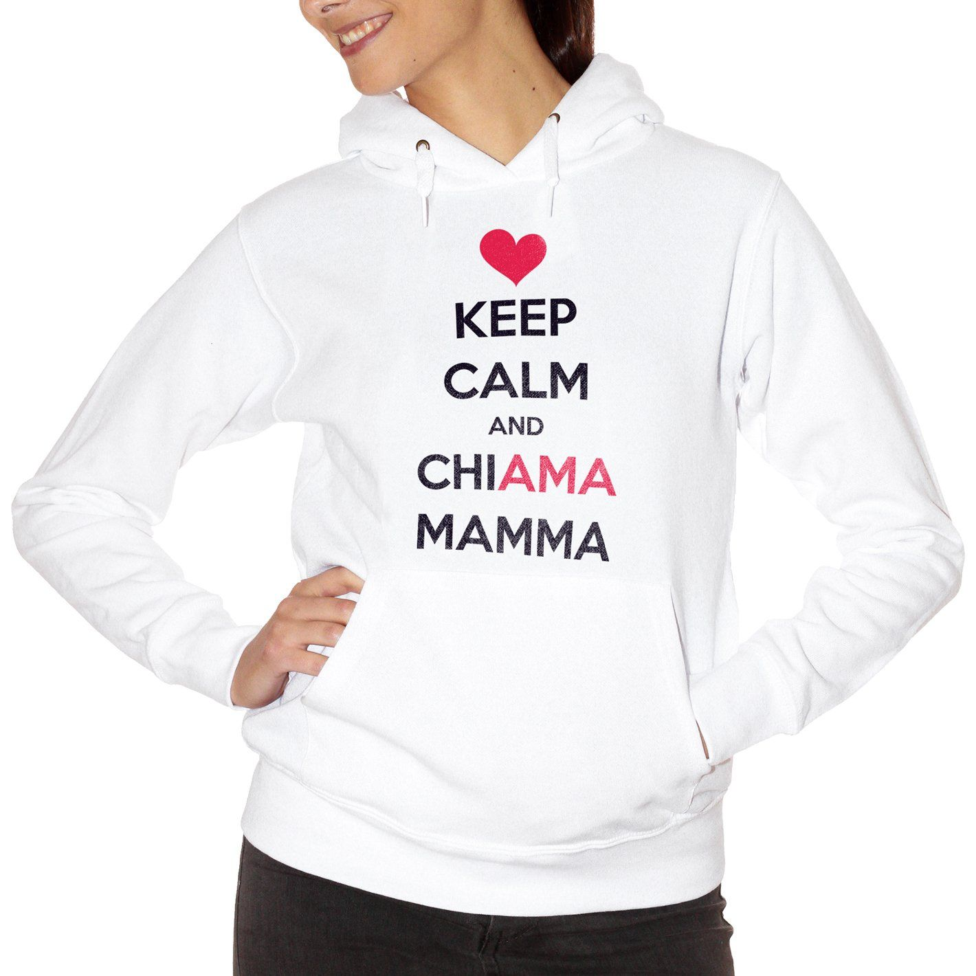 Maroon Felpa Festa Della Mamma Keep Calm Love - DIVERTENTE Choose ur color CucShop