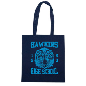 Borsa Hawkins High Shool Stranger Things - Blu navy - FILM Choose ur color - CUC #chooseurcolor