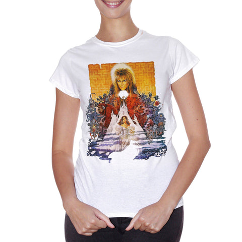 T-Shirt Labyrinth David Bowie Locandina - MUSIC Choose ur color