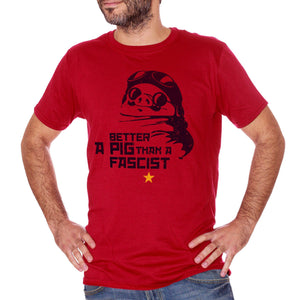 T-Shirt Porco Rosso Miyazaki Antifa - CARTOON Choose ur color - CUC #chooseurcolor
