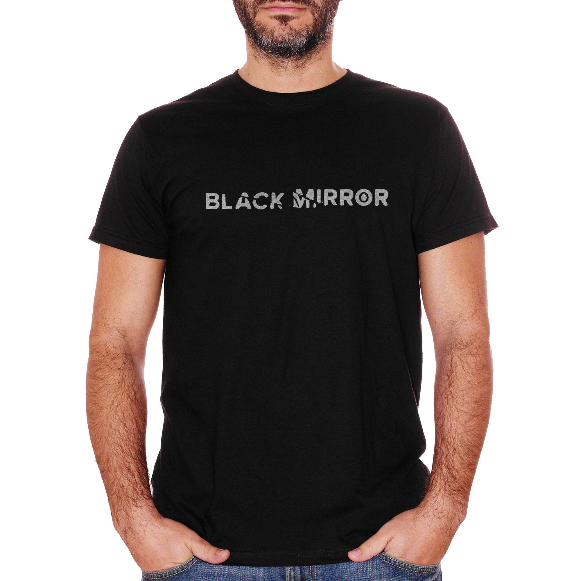 T-Shirt Black Mirror Logo  - FILM Choose ur color