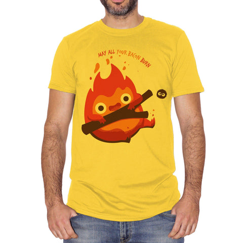 T-Shirt Miyazaki Castello Errante Di Howl- Calcifer - CARTOON Choose ur color
