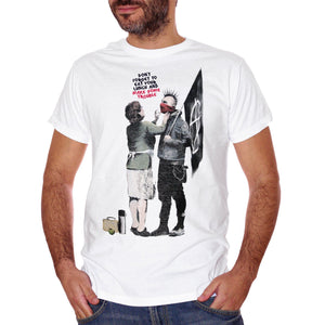 Dark Slate Gray T-Shirt Banksy Mamma Anarchico - POLITICA Choose ur color CucShop