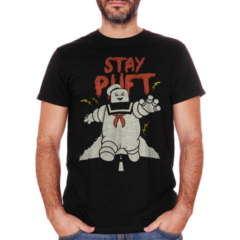 White T-Shirt Stay Puft - Marshmallow Man Ghostbusters - FILM Choose ur color CucShop