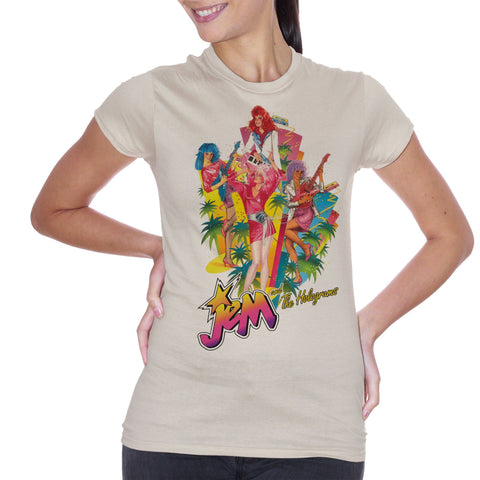 T-Shirt Jem And The Holograms Cartoon - CARTOON Choose ur color